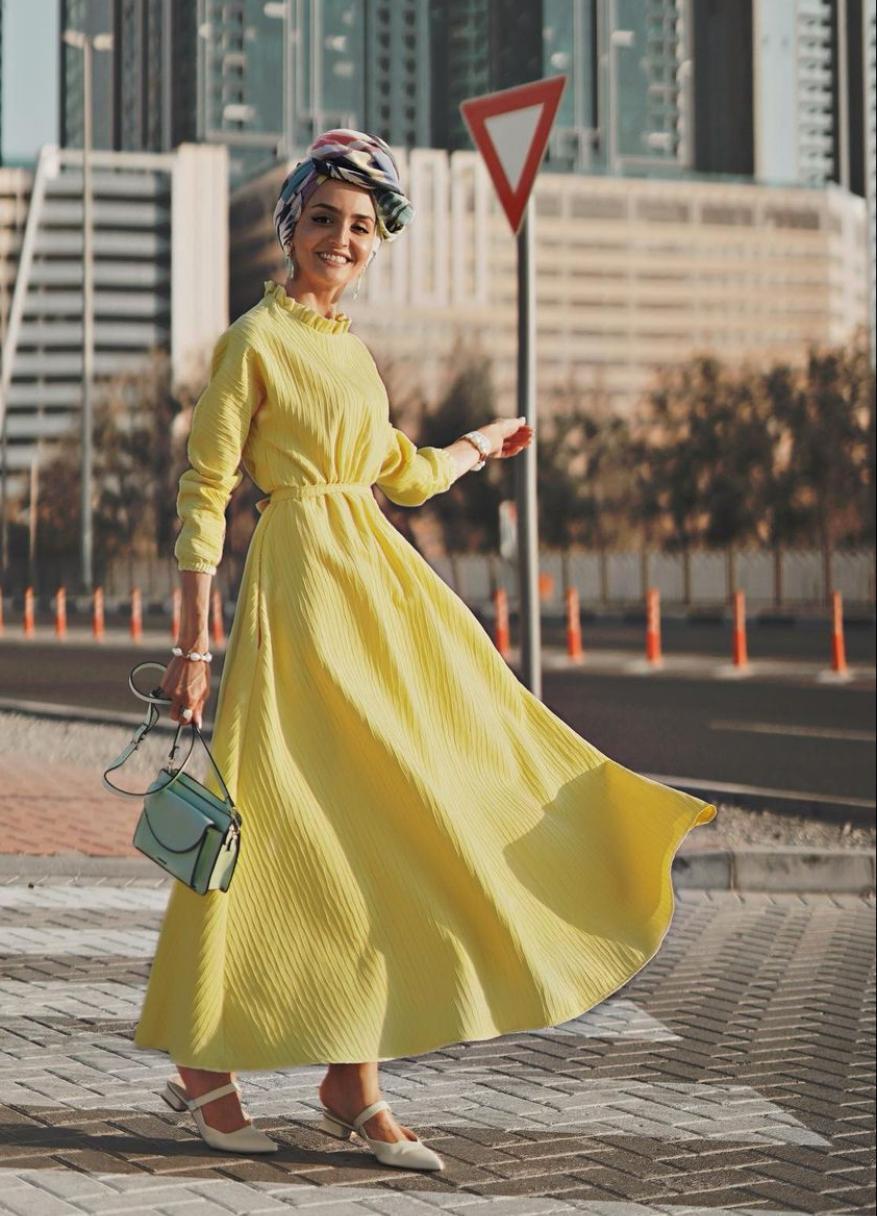 فستان ربيعي من غادة عثمان