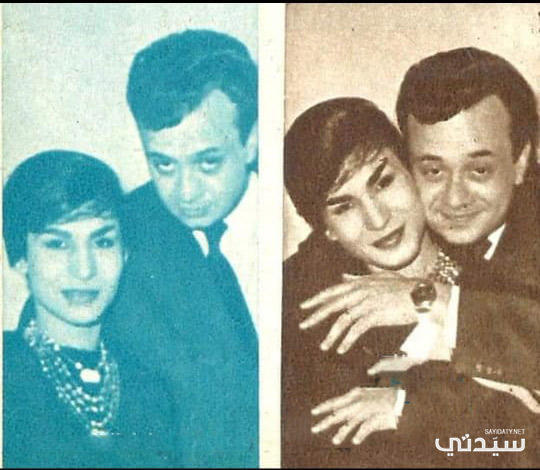 فايزة أحمد وزوجها الثاني مختار العابد سوري الجنسية