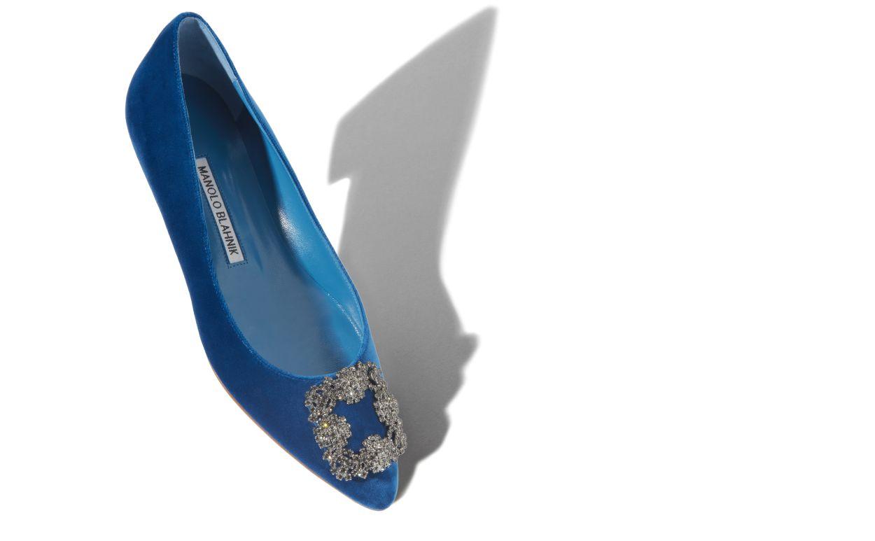حذاء أزرق من MANOLO BLAHNIK-صورة 1