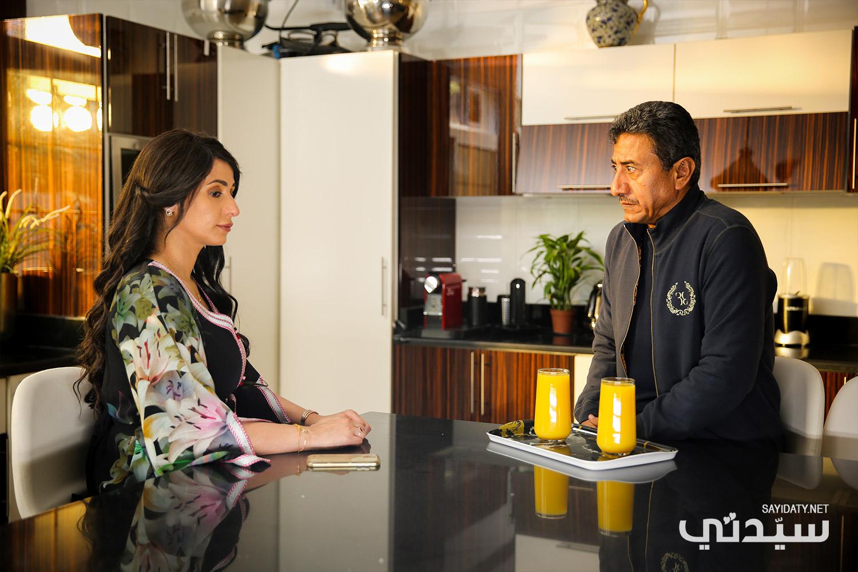 ناصر القصبي وهند محمد في مشهد من المسلسل