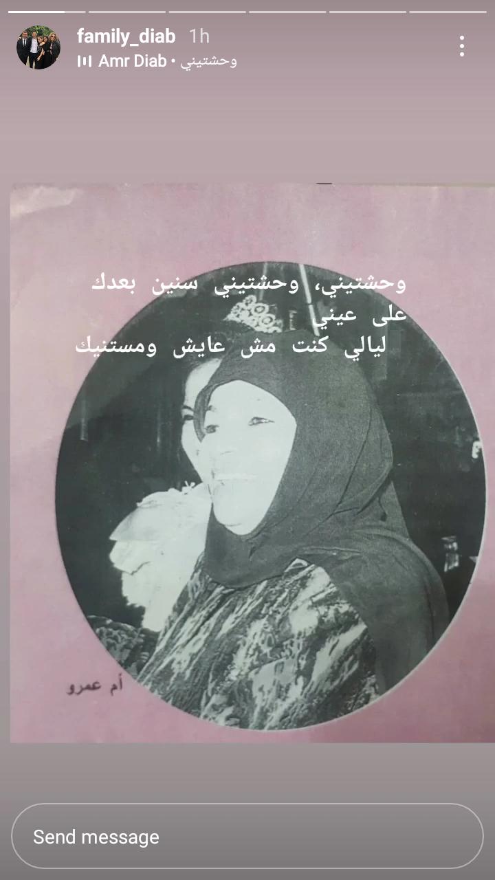 والدة عمرو دياب