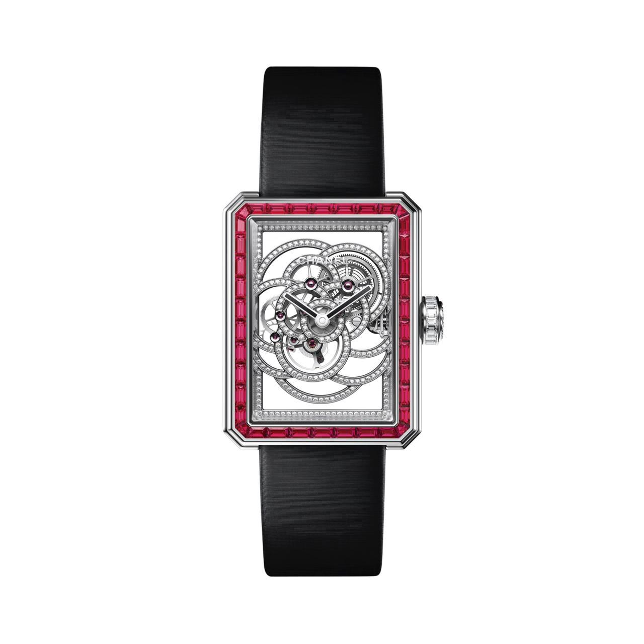 ساعة Première Camélia Skeleton Rubis من شانيل Chanel