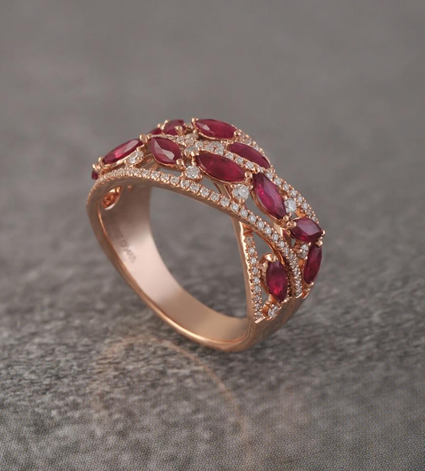 خاتم فلورينا من مجوهرات أريج Areej Jewellery