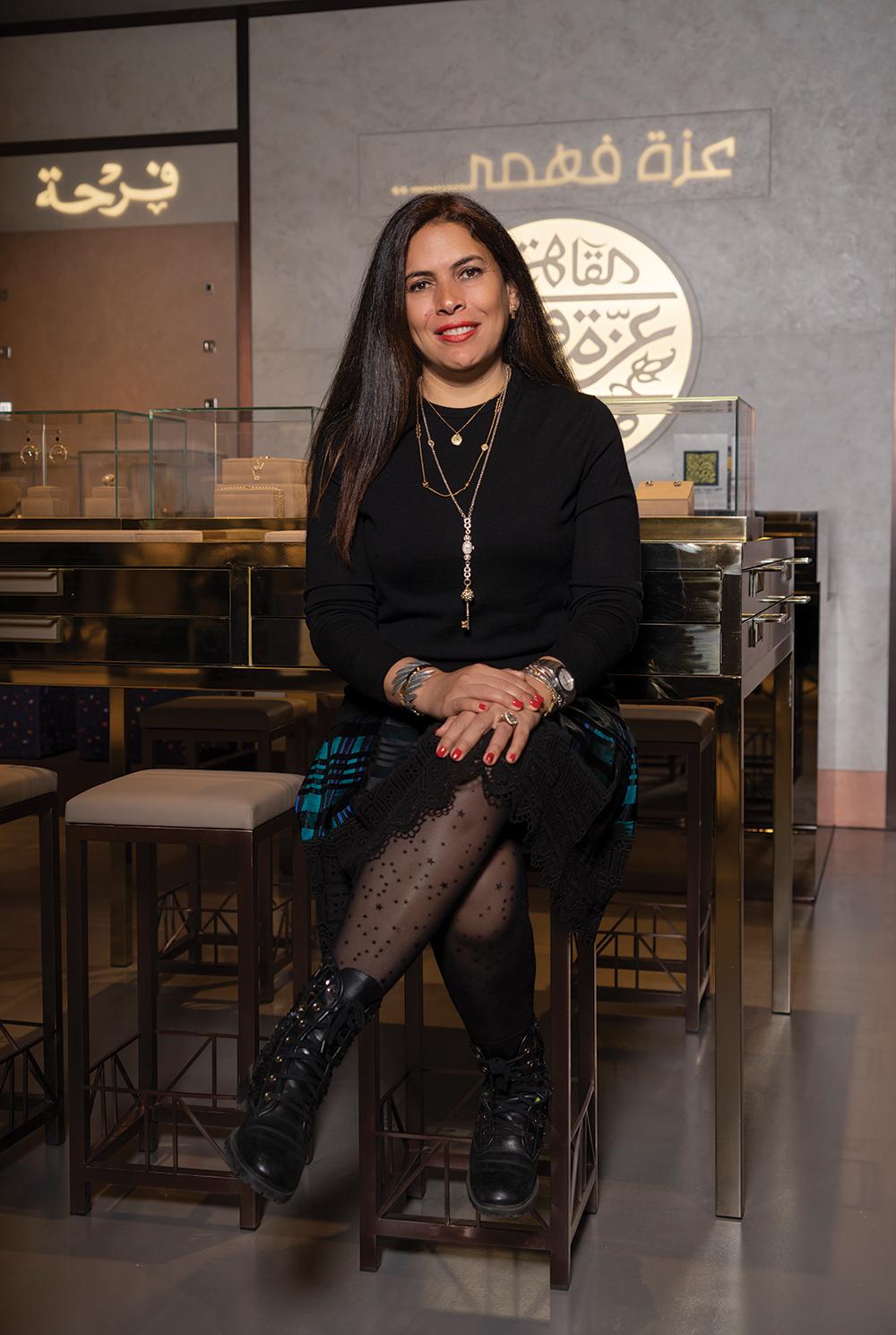 فاطمة غالي، الرئيسة التنفيذية لمجوهرات عزة فهوي Azza Fahmy