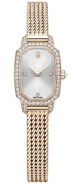ساعة هاري وينستون إميرالد من الذهب الوردي Harry Winston Emerald In Rose Gold
