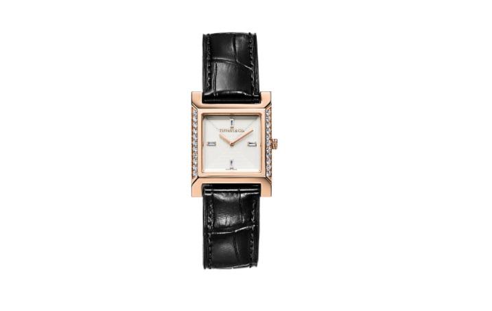 ساعة سوداء من تيفاني آند كو «Tiffany & Co»