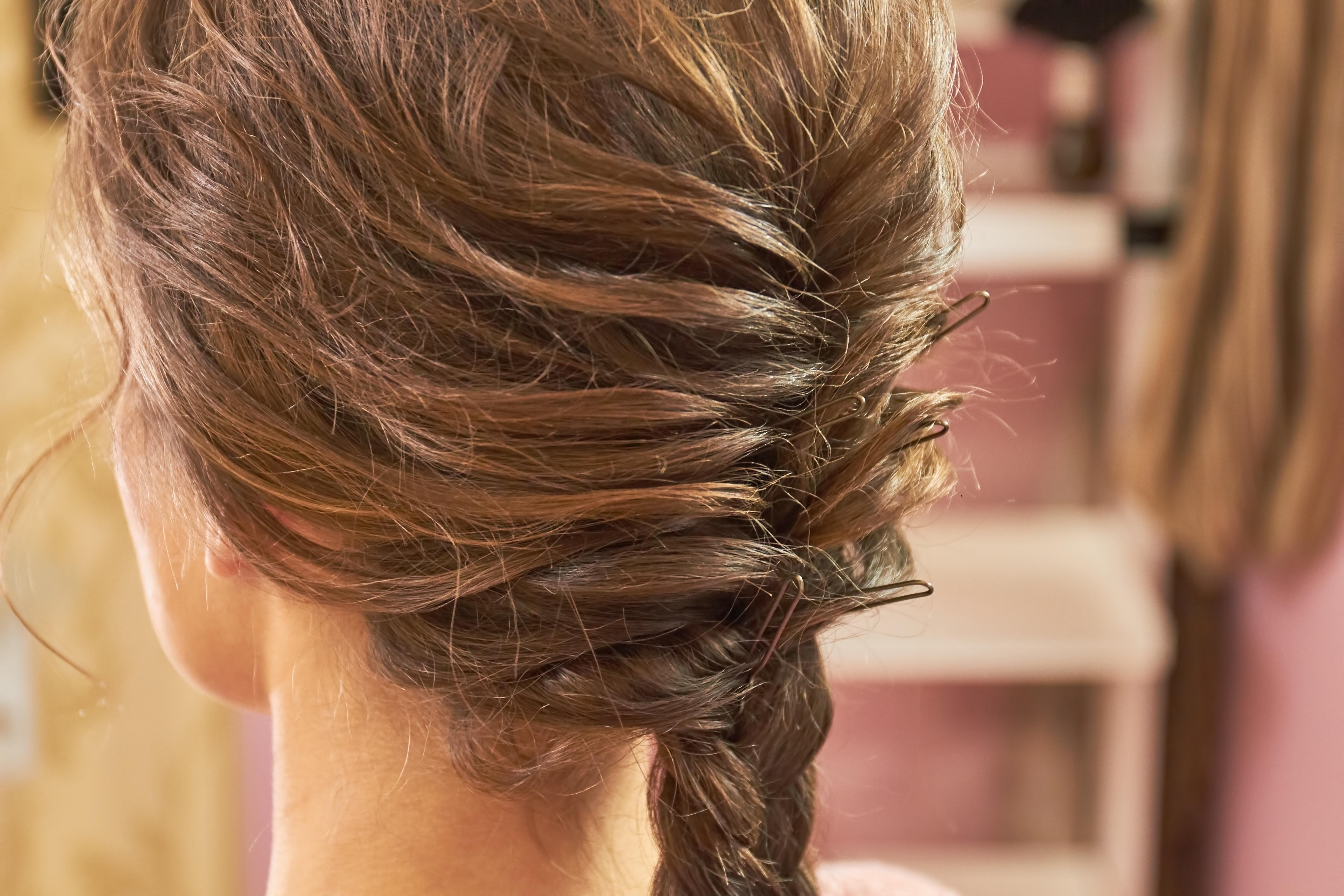 تسريحة دبابيس الشعر