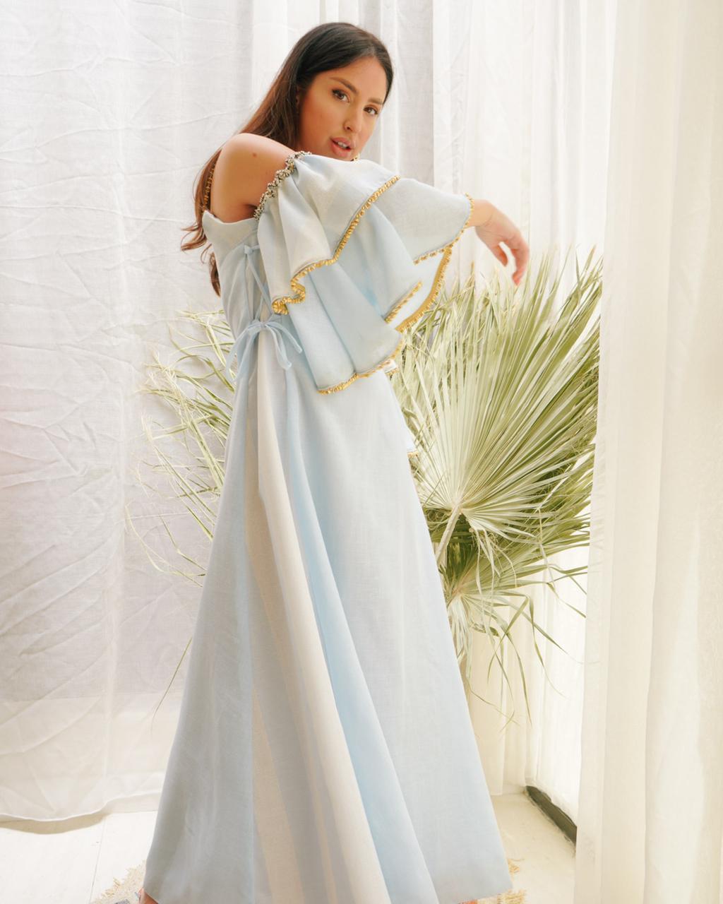 فستان من مجموعة رمضان والعيد للمصممة هبه فراش