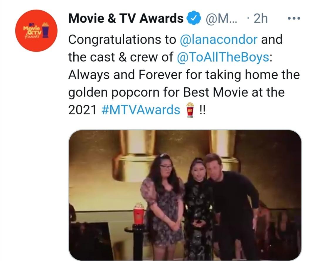 فيكتوريا بيدريتى- الصورة من حساب MTV Movie & TV Awards على تويتر