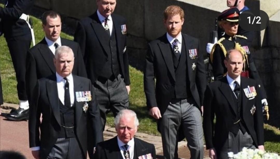هاري في جنازة جده الأمير فيليب- الصورة من إنستغرام