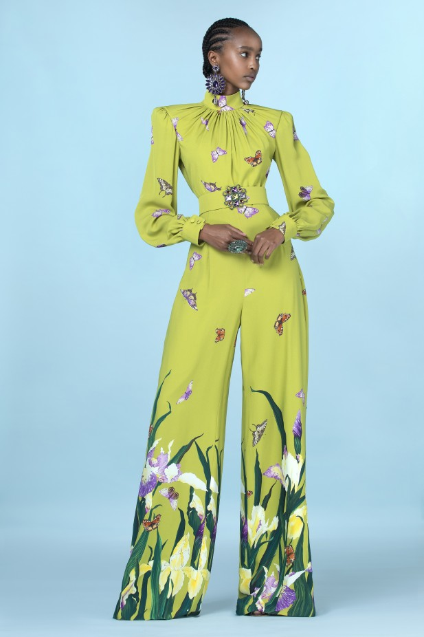 Jump Suit مطبع بالأزهار من Andrew Gn