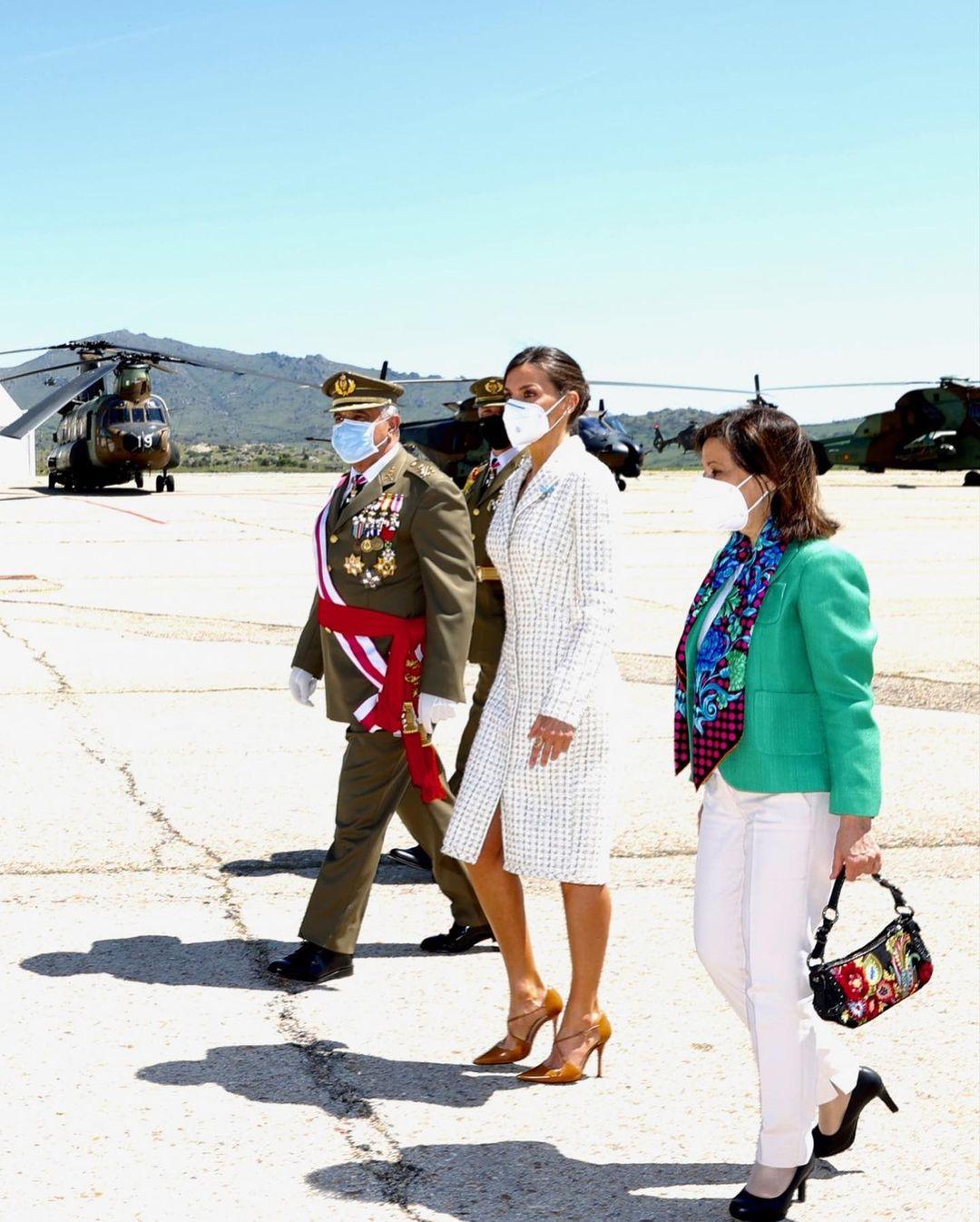الملكة ليتيزيا في احتفال رسمي بأكاديمية الطيران العسكرية-الصورة من حسابها بأنستغرام