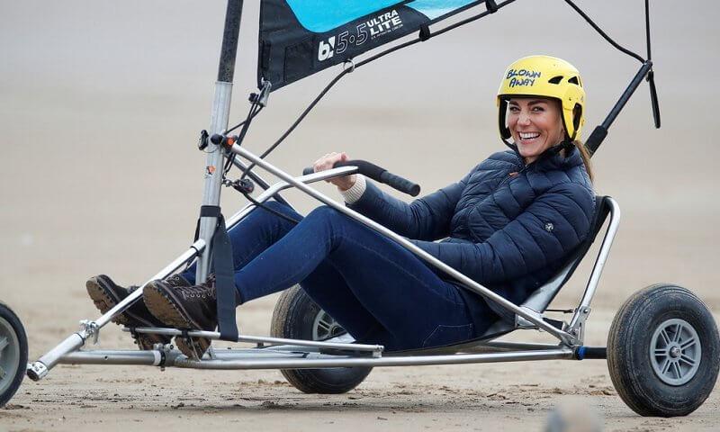 الأميرة كيت تركب اليخت البري- الصورة من موقع New my royals