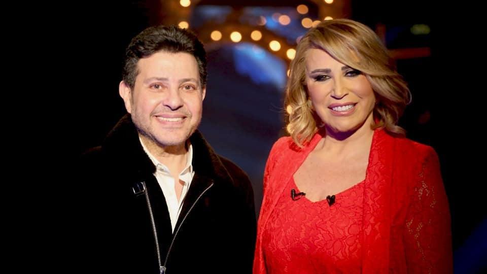 إيناس الدغيدي مع هاني شاكر في برنامج شيخ الحارة والجريئة