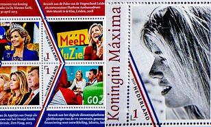 الطوابع البريدية إحتفالًا بيوم ميلاد الملكة- الصورة من موقع ديلي ميل