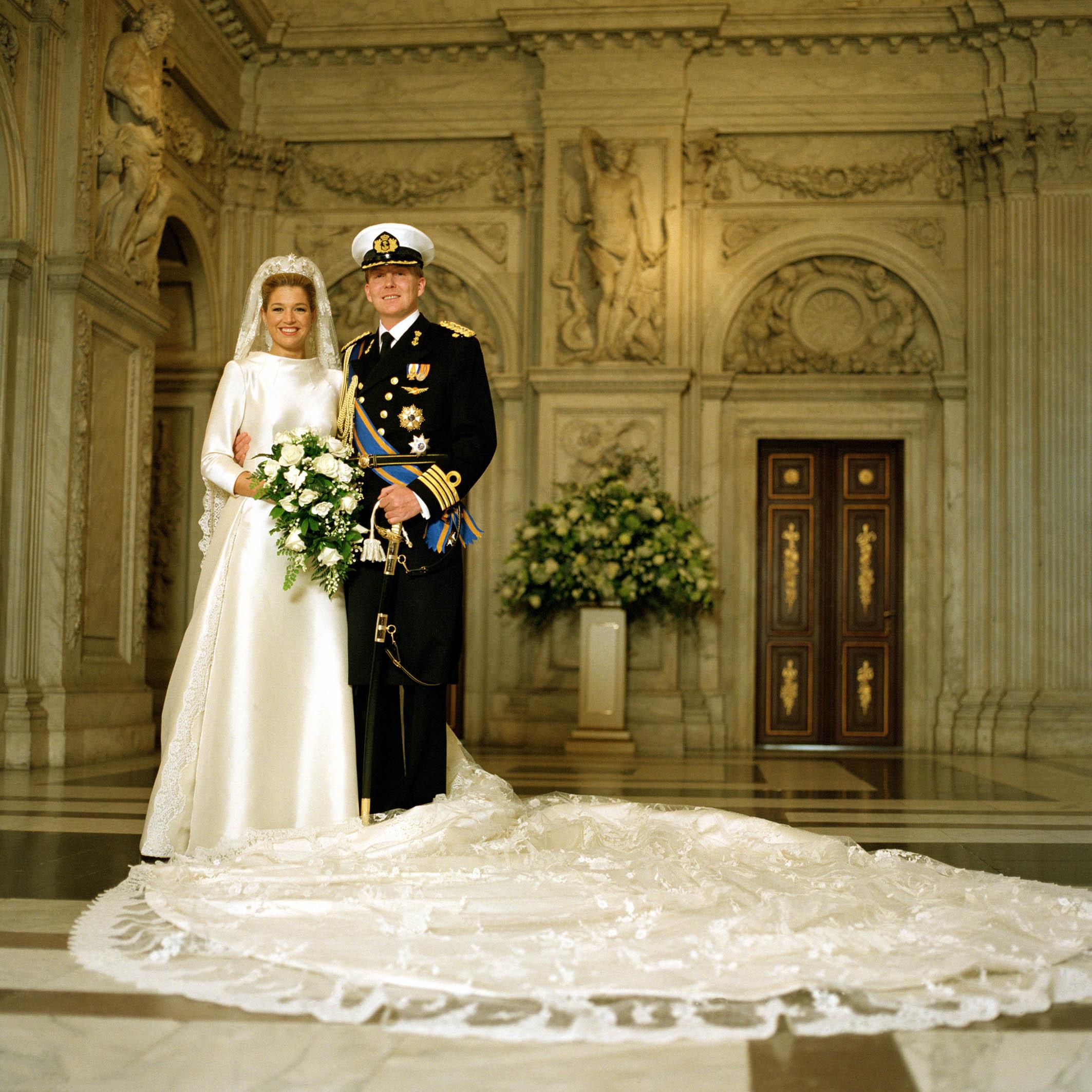 حفل زفاف الملكة ماكسيما وزوجها الملك ويليم ألكساندر- الصورة من موقع ويكيبيديا