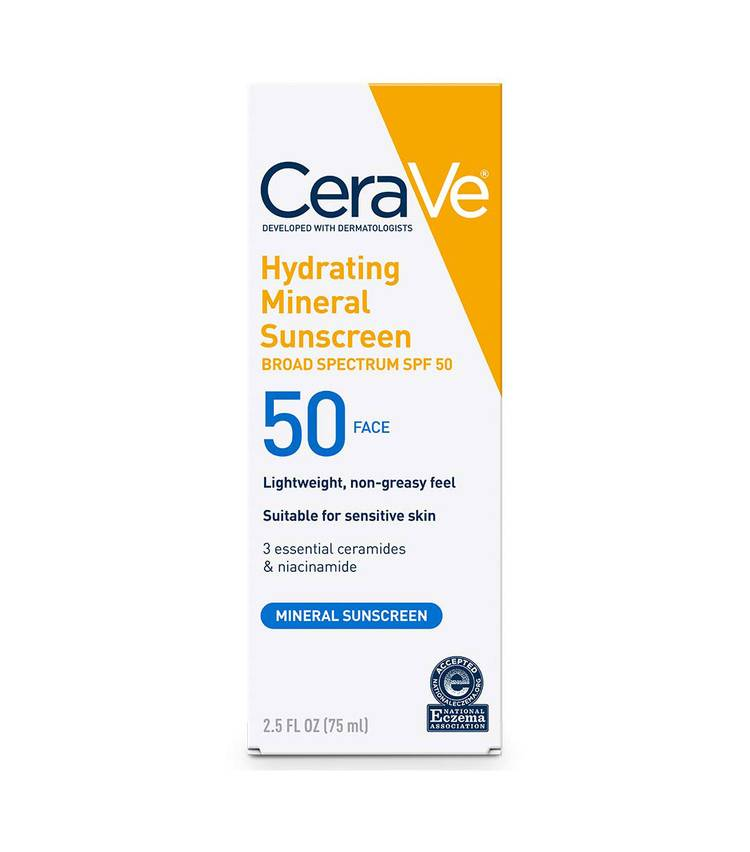 CeraVe Hydrating Mineral Sunscreen SPF 50