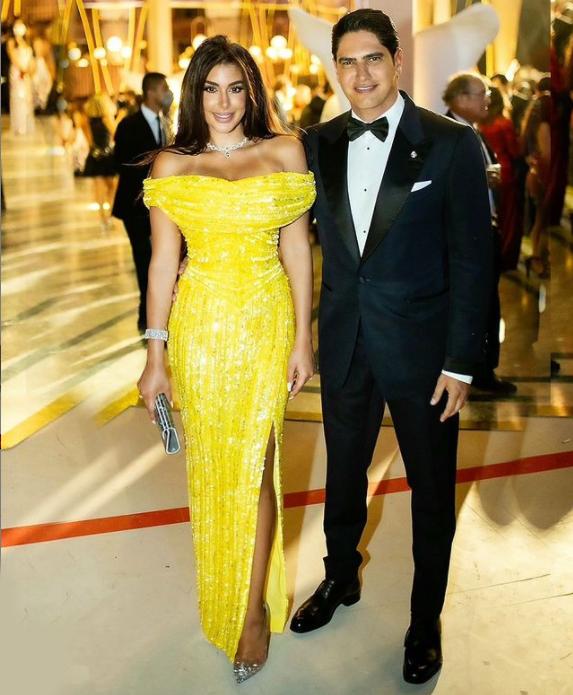 ياسمين صبري وزوجها رجل الأعمال أحمد أبو هشيمة الصورة من حساب النجمة على انستغرام