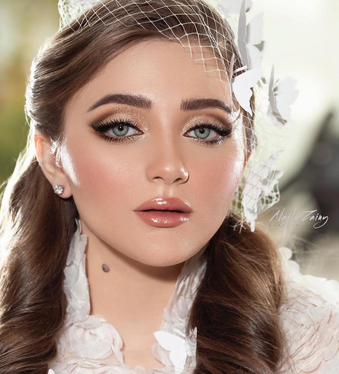 مكياج عروس من خبيرة التجميل نجلاء زيني -الصورة من حسابها على الانستغرام