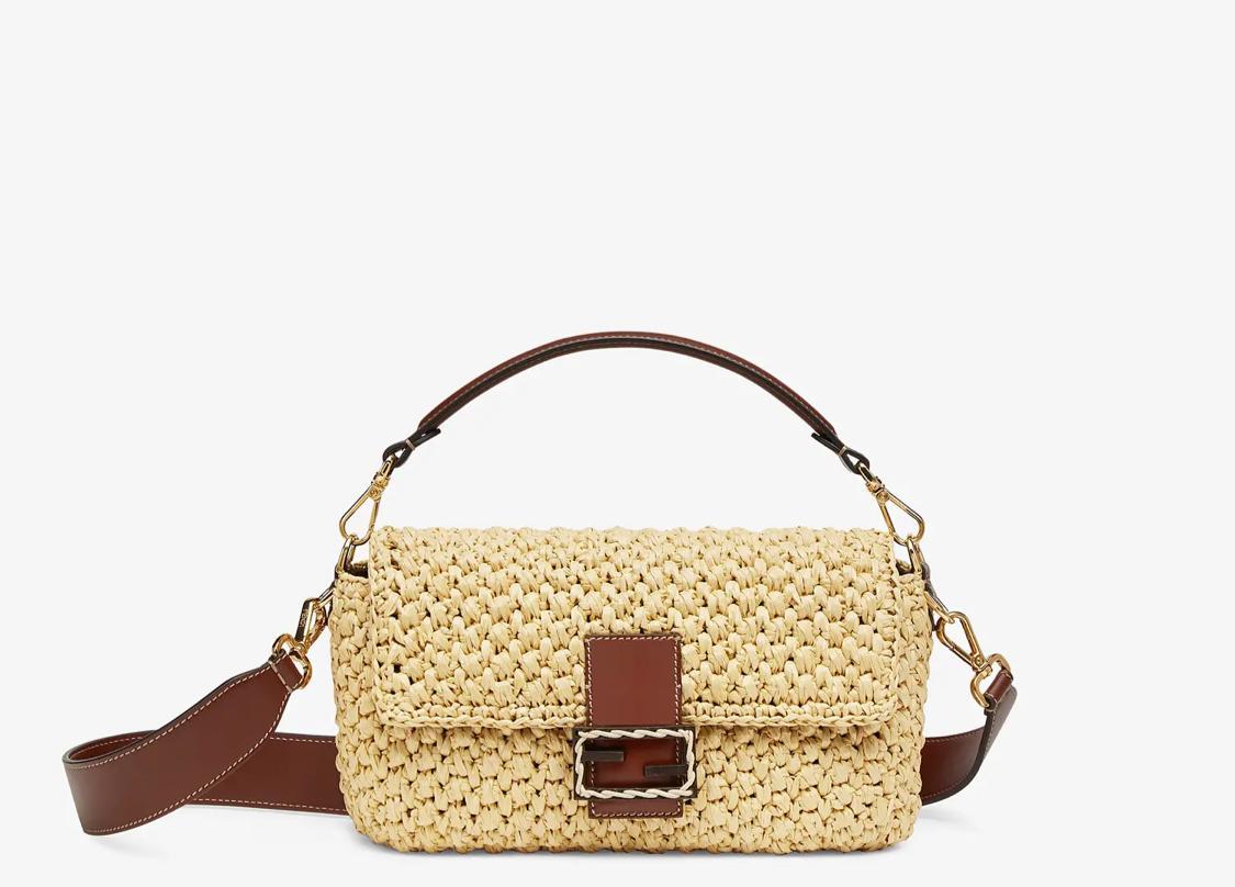 حقيبة  القش من علامة فيندي Fendi