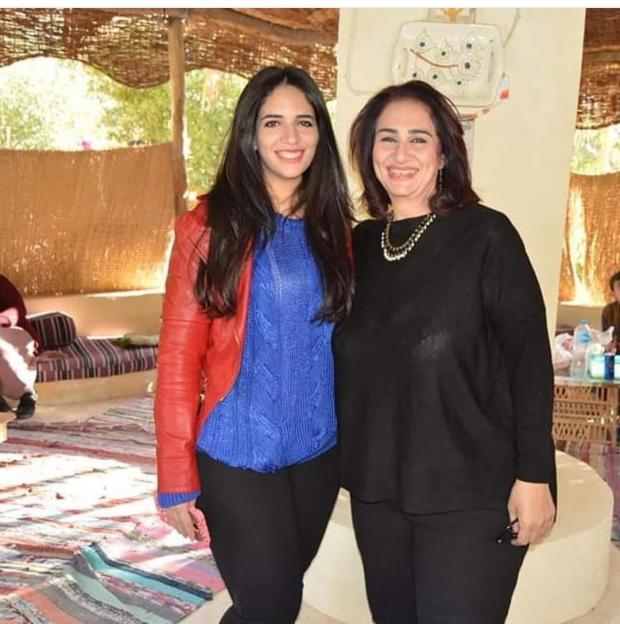 مريم سعيد صالح وابنتها