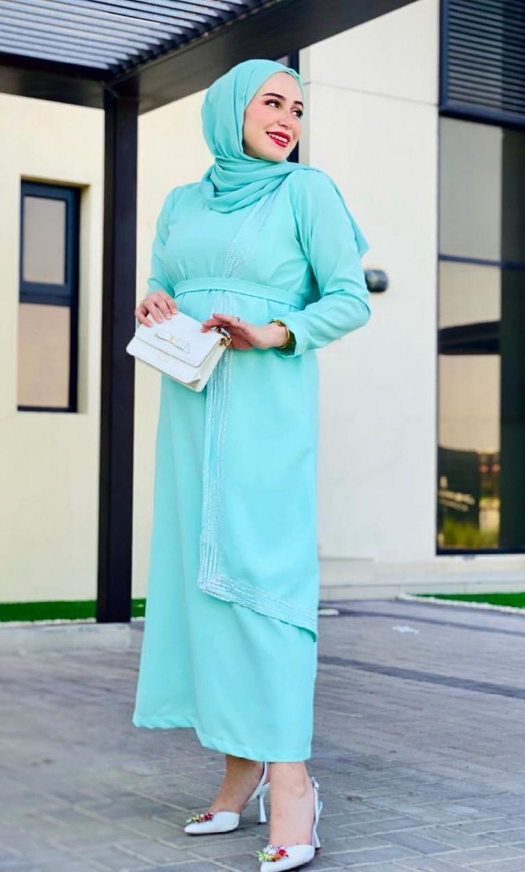 سارة موصلي بفستان منعش للعيد -الصورة من حسابها على الانستغرام
