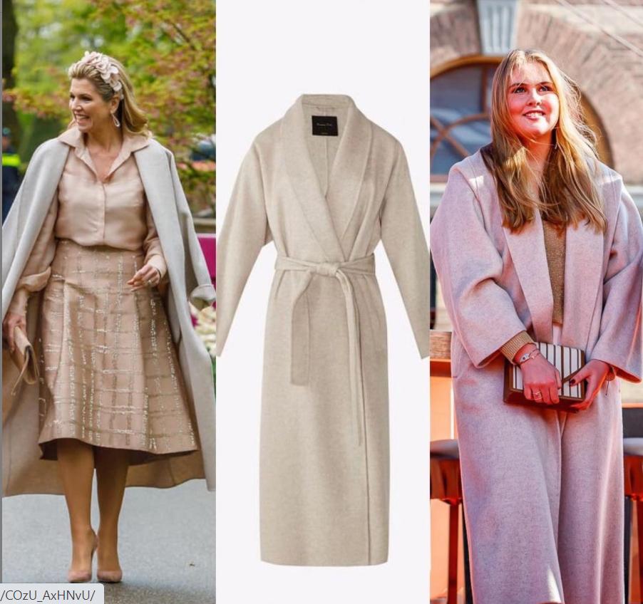 الملكة مكسيما وابنتها في معطف واحد