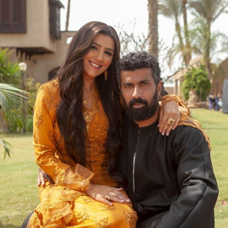 مي عمر وزوجها المخرج محمد سامي