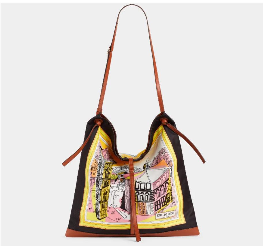 الحقيبة من إميليو بوتشي الصورة من موقع الدار الالكتروني