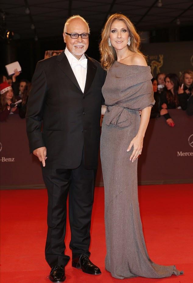 سيلين ديون وزوجها أنجيلل- الصورة من موقع ديلي ميل