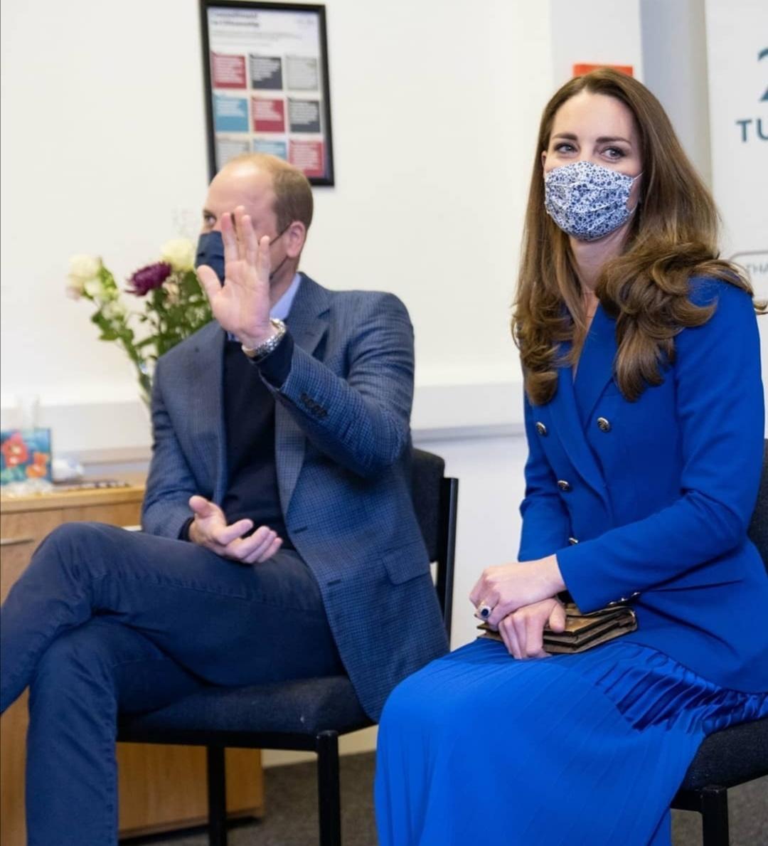ويليام وكيت خلال زيارتهما إلى Turning Point Scotland- الصورة من حساب Cambridge royal على إنستغرام-