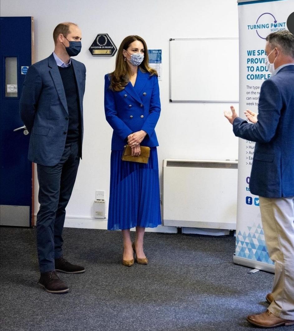 ويليام وكيت خلال زيارتهما إلى Turning Point Scotland- الصورة من حساب دوق ودوقة كامبريدج على إنستغرام