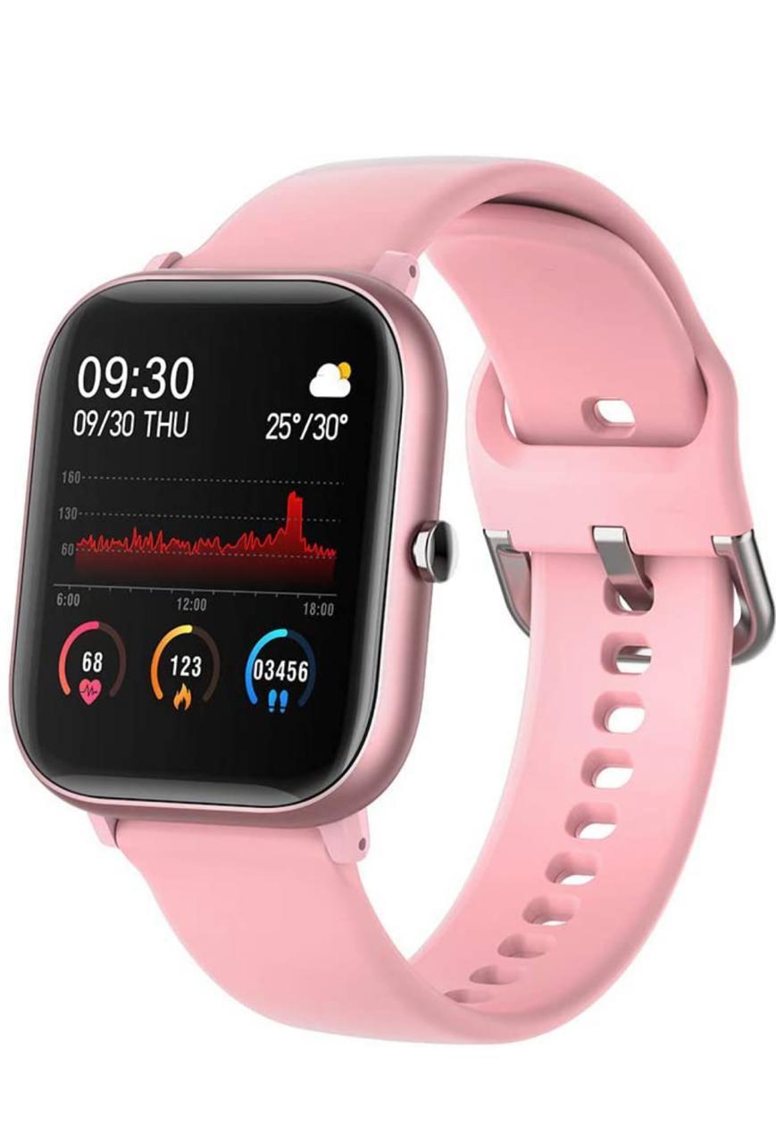 ساعة ذكية زهرية متوافقة مع نظام أندرويد واي أو إس من إميتويز