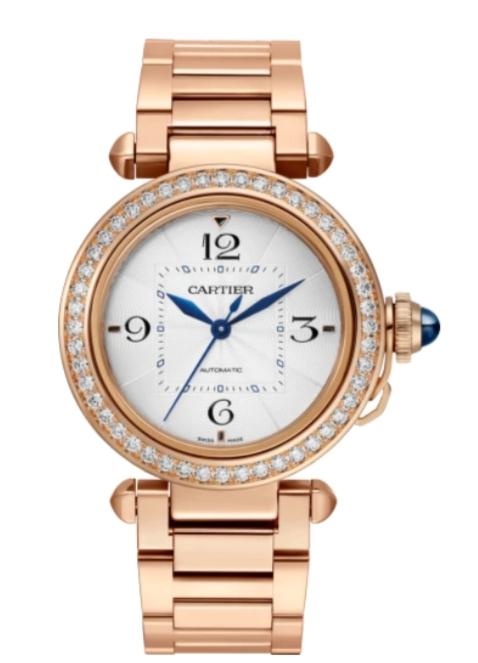 ساعة ذهب وردي مرصعة بالألماس من كارتييه Cartier لعيد الفطر 2021