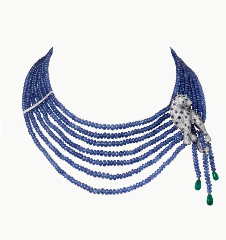 قلادة من المجوهرات الفاخرة من مجموعة «پانتير دو كارتييه Cartier» من كارتييه Cartier