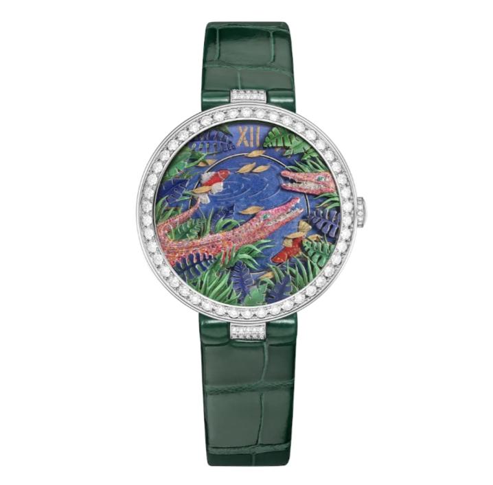 ساعة ملونة جلد من شوميه Chaumet
