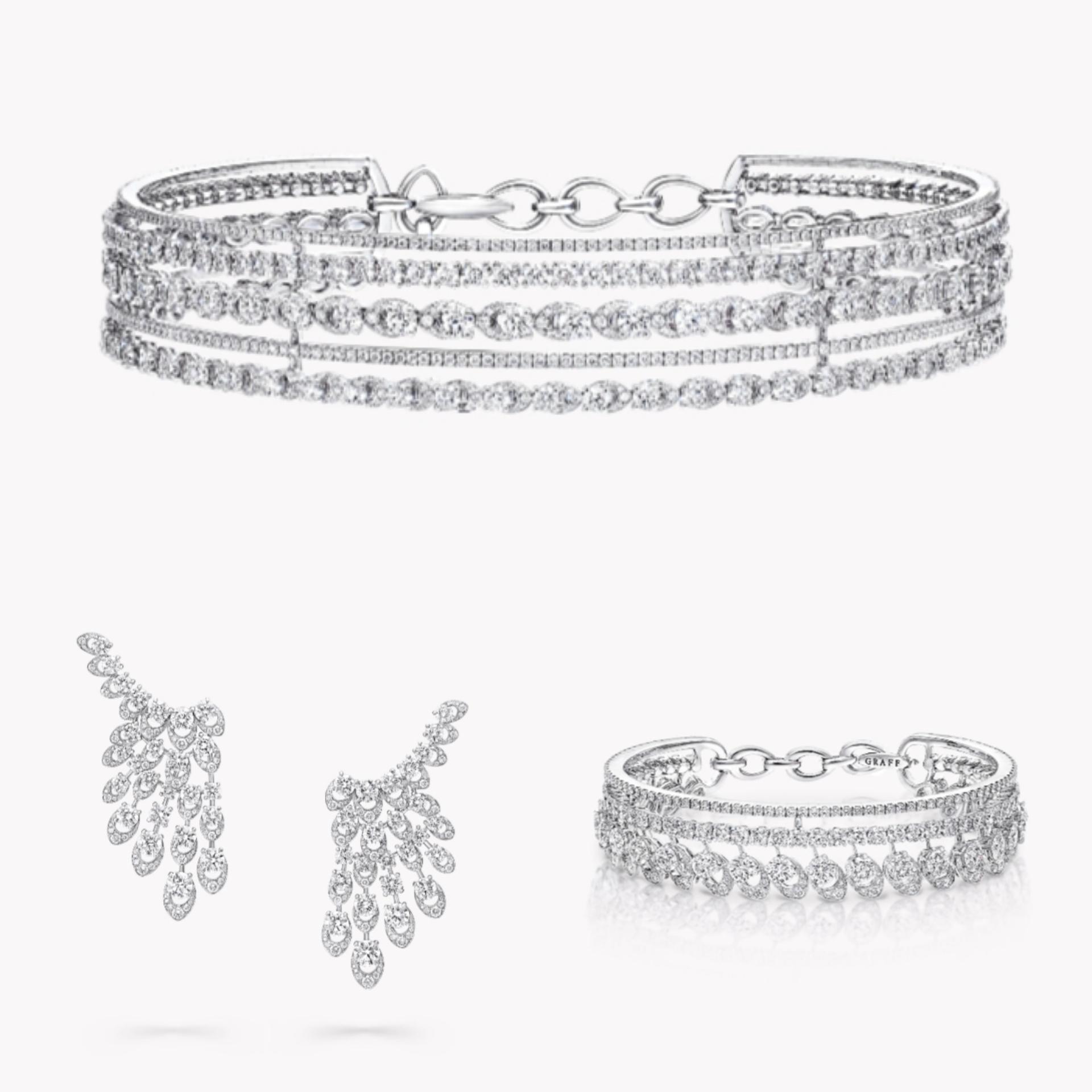 طقم مجوهرات عروس ألماس من غراف Graff