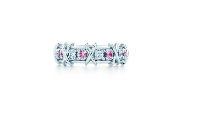 خاتم ذهب أبيض للتكديس من تيفاني أند كو Tiffany & Co