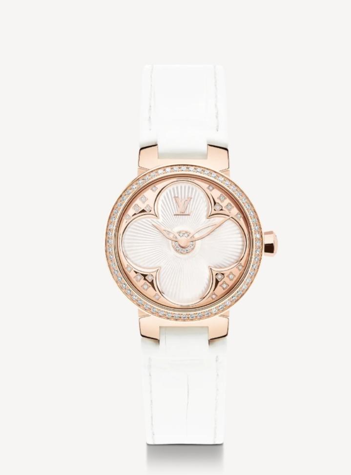 ساعة صغيرة من الجلد من Louis Vuitton