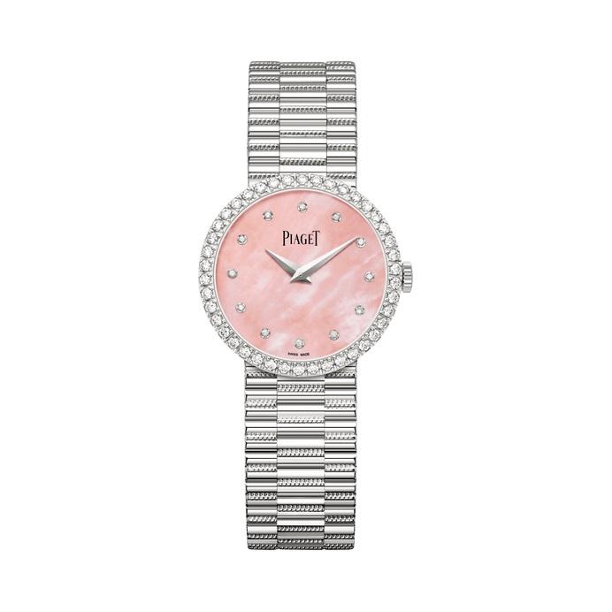 ساعة باللون الوردي الباستيل من بياجيه Piaget
