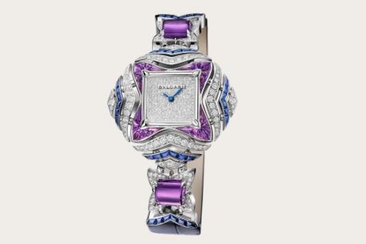 ساعة مُرصَّعة بالألماس والياقوت الأزرق من بولغري «Bvlgari»
