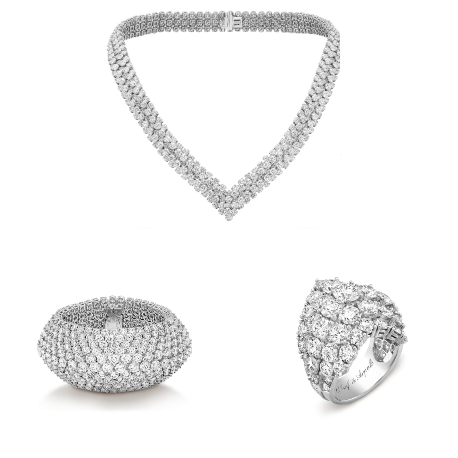 طقم مجوهرات عروس Á Cheval من فان كليف أند آربلز Van Cleef & Arpels