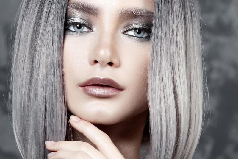 ألوان صبغات شعر بني رمادي