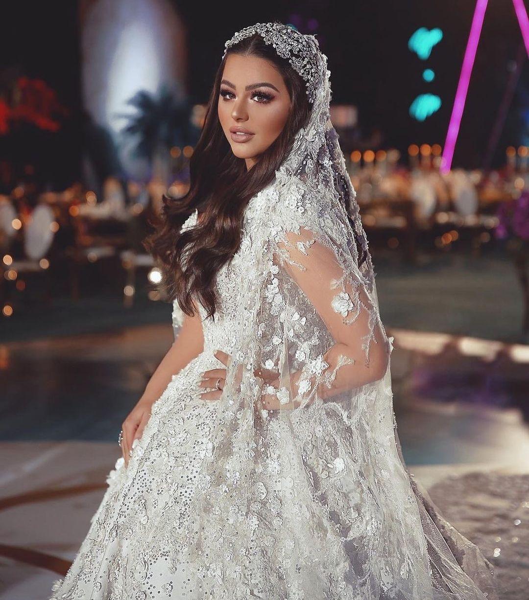 زفاف هنادي مهنا وأحمد صالح وهذه تفاصيل إطلالة العروس