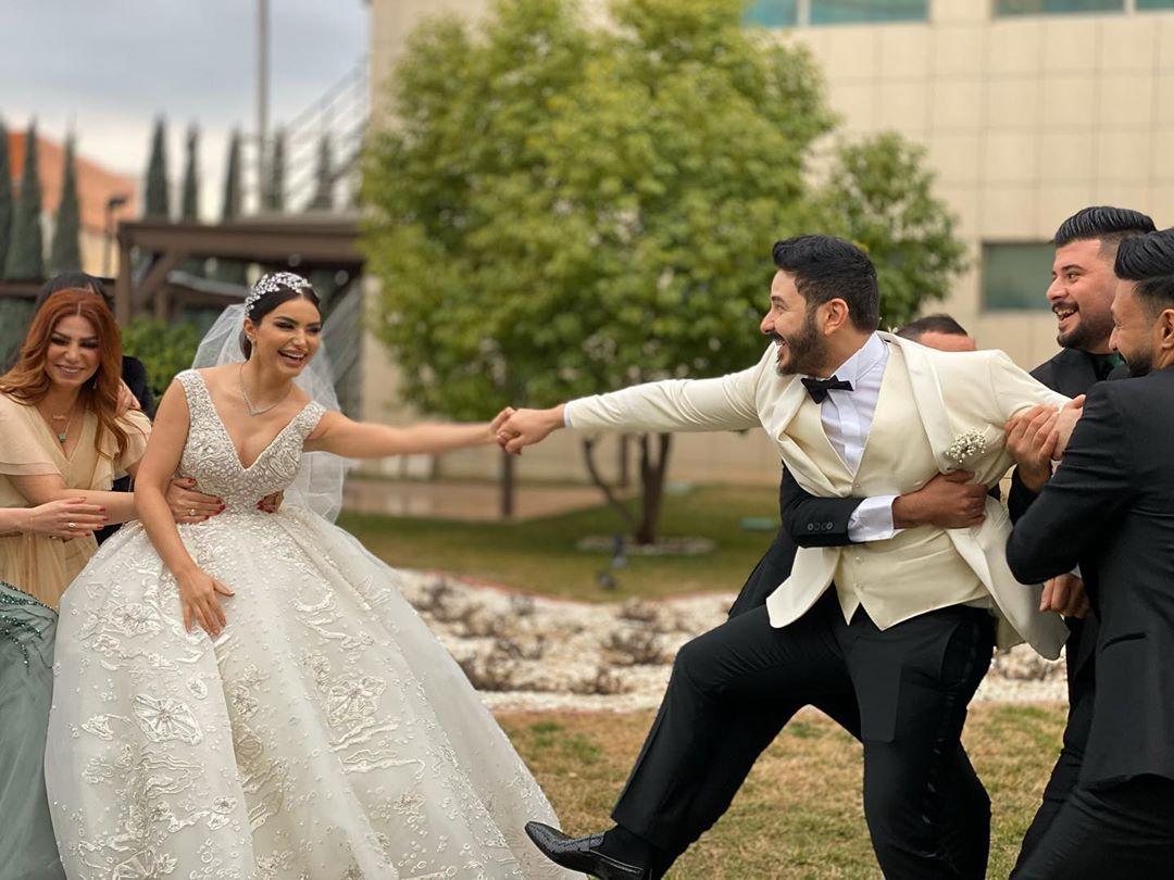 زفاف بكر خالد وهيفاء حسوني