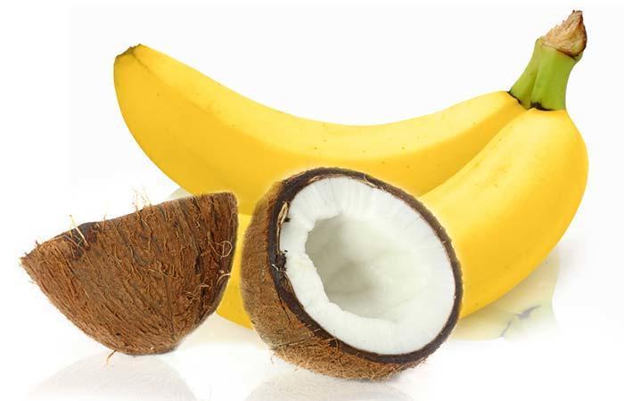 خليط الموز وزيت الزيتون