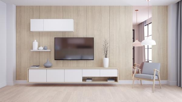 فخامة الخشب الديكور المودرن shutterstock_1121570