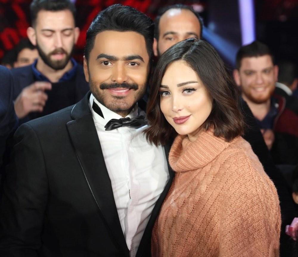 اتمام الصلح بين بسمة بوسيل وتامر حسني