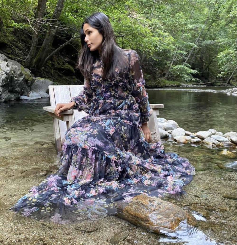 موديلات الأزياء المطبعة من أحدث إطلالات فريدا بينتو