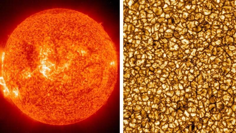 صورة تظهر شكل الحبيبات الشمسية بدقة عالية